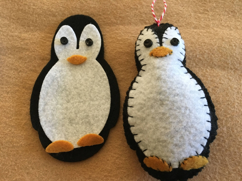 DIY Felt Penguin Ornament KitButton EyesFelt Gift Etsy