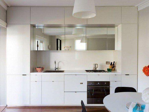 cocinas-pequenas-de-diseno-muebles-blancos | decoración ... - Muebles De Cocina Pequenas