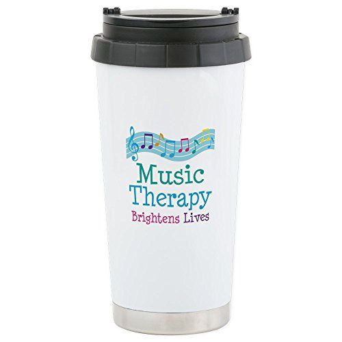 CafePress Stainless Steel Travel Mug - Music Therapy Colo…