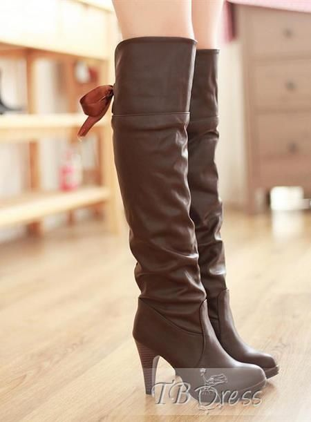 Grand Genou Taille Bottes Pu 3hAfDS0