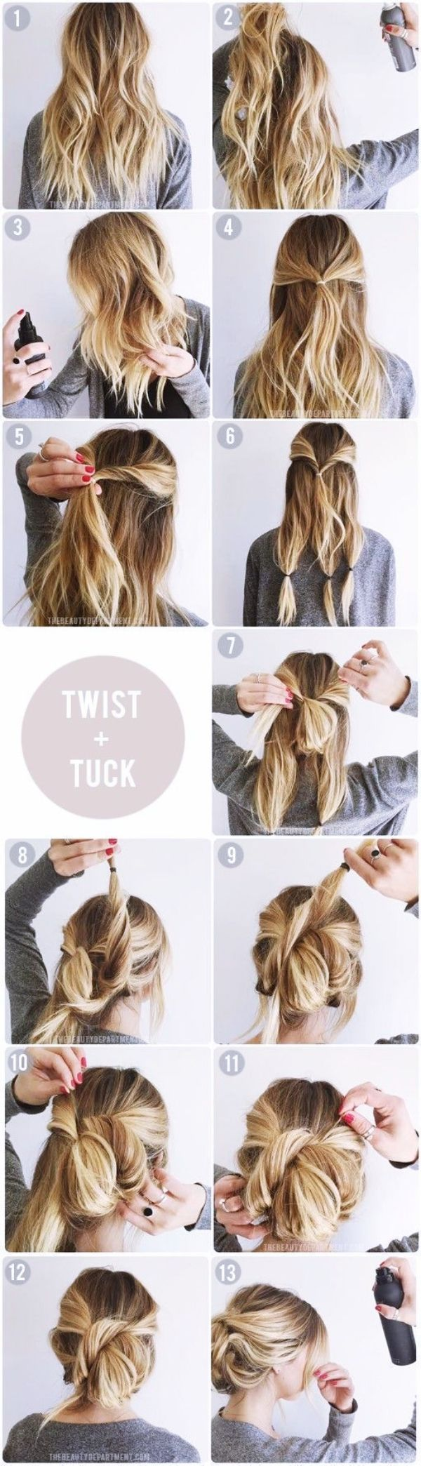 Quick-Self-Do-Hairstyles-for-Working-MOMs  Tutoriels coiffure