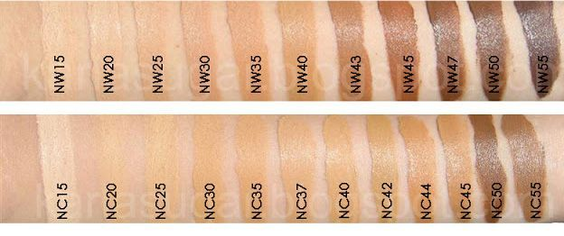 MAC studio fix shades