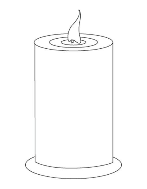 Velas Para Colorear Candle Template Colorful Candles Candle Printable