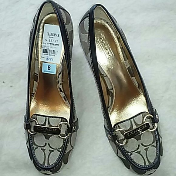 Coach Heel Closed Toe Signature Mongram Shoes. Coach 3