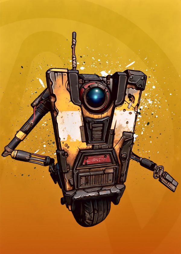 "Borderlands Characters Claptrap #Displate artwork by artist ""BlueTodyArt"". Part of a set based on… 