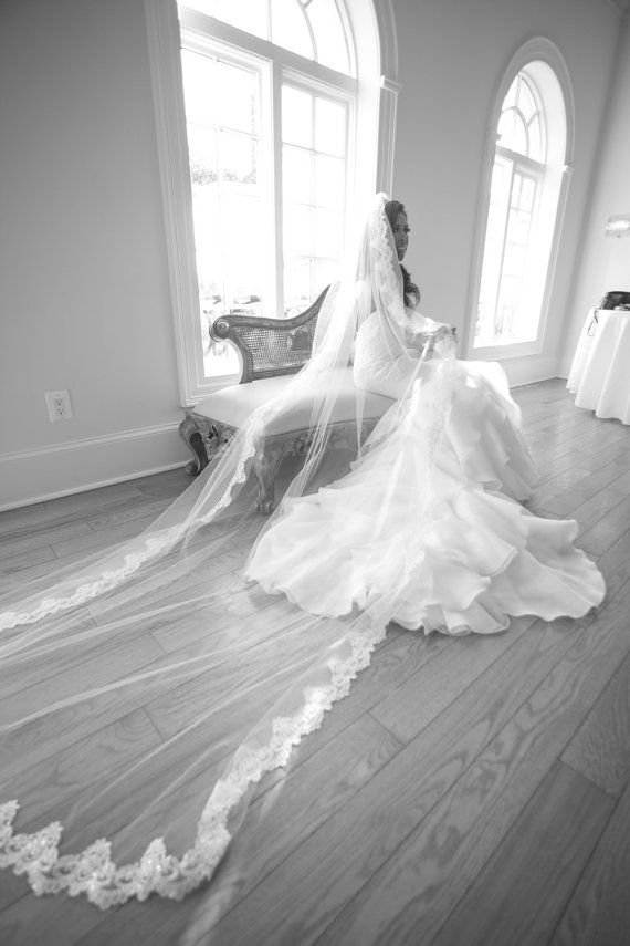 Love this Beaded Lace Veil! So affordable here too:) | wedding veils, lace wedding veils, veils with lace, mantilla wedding veils, mantilla lace wedding veils,