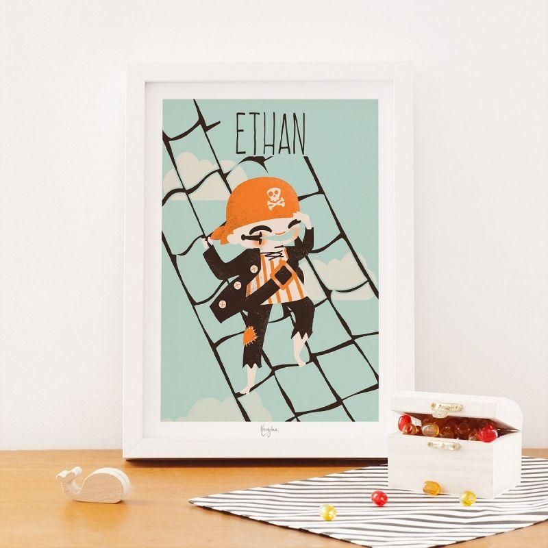 Affiche A4 Les Pirates Le moussaillon (personnalisable)