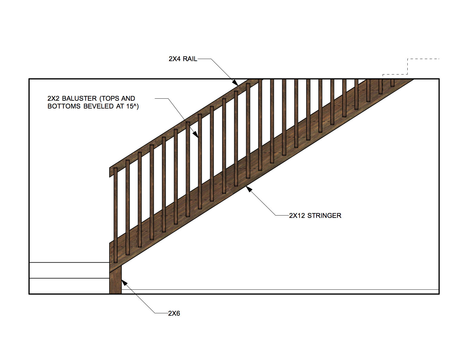 DIY stair rail ideas for Heather's retro basement remodel ...