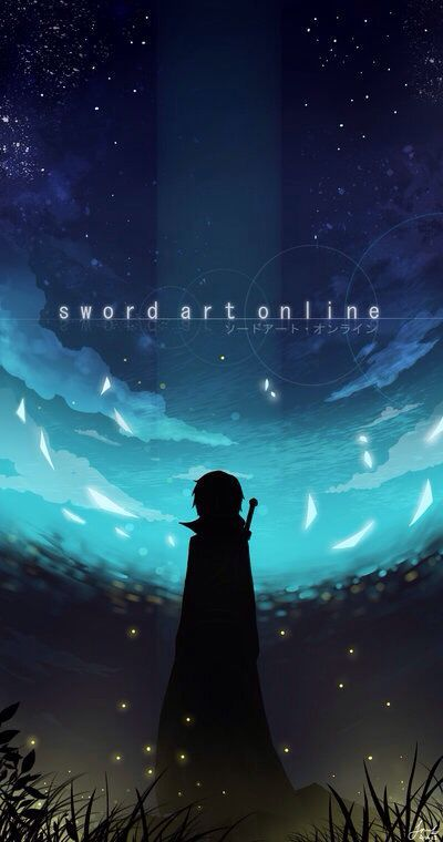 Sword Art Online iPhone wallpaper Línea de arte