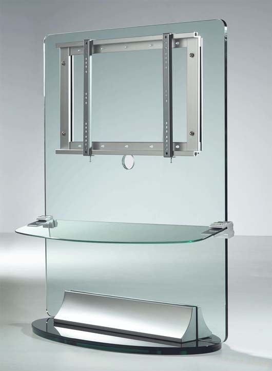 image result for glass rotating tv stand