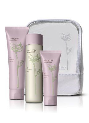 ARTISTRY® Essentials Balancing Skincare System for Combination-to-Oily Skin by ARTISTRY. $51.99. Keep all products together with the free travel bag, included with each essentials balancing system.. Give skin a fresh, matte finish with essentials balancing toner (6.70 fl. oz.).. Equalize and control oil with natural ingredients that create a perfect balance for your combination-to-oily skin.. Reveal fresher skin using built-in patented exfoliation technology with essentia...
