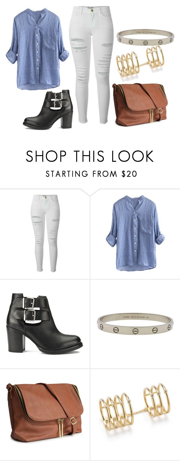 """#727"" by inesiklovatik ❤ liked on Polyvore featuring Frame Denim, Ravel, Cartier, H&M and Elizabeth and James"