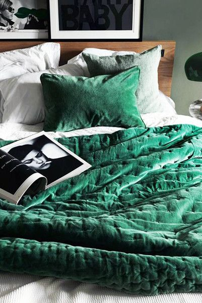 Emerald City Bedroom Green, Jewel Tone Green Bedding
