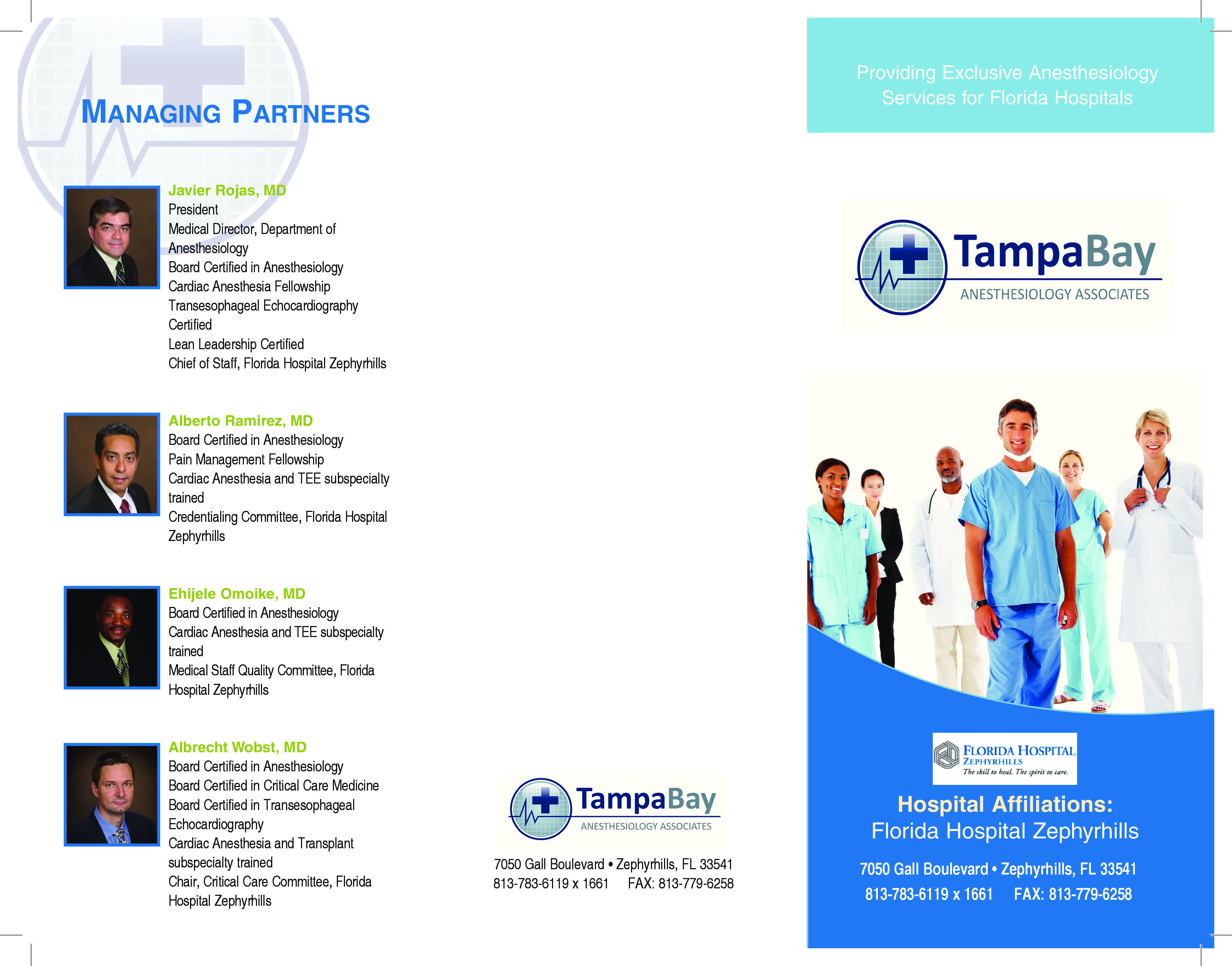 Tampa Bay Anesthesiology Bayshore Marketing Group Dental Marketing Group Work Anesthesiology