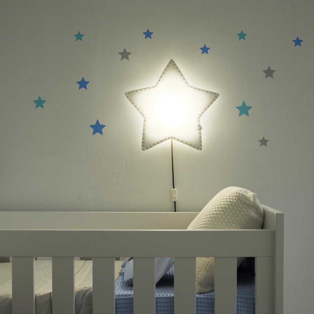 Lampara iluminacion estrella decoracion infantil - Iluminacion habitacion bebe ...