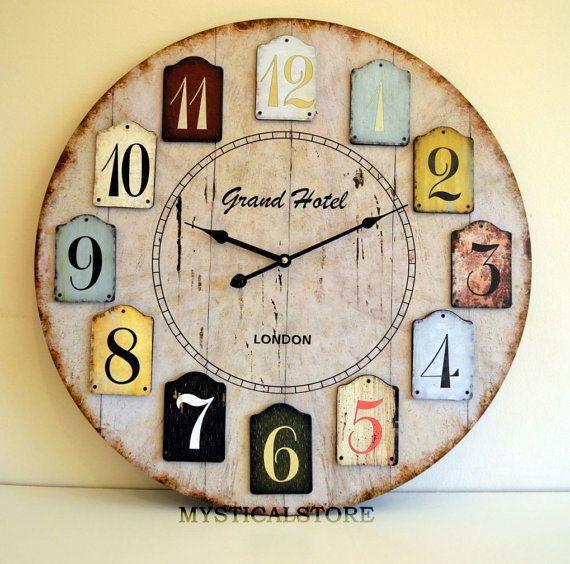 Wooden Wall Clock Wooden Rustic Wall Clock Wooden Vintage Wall Clock Diy Clock Wall