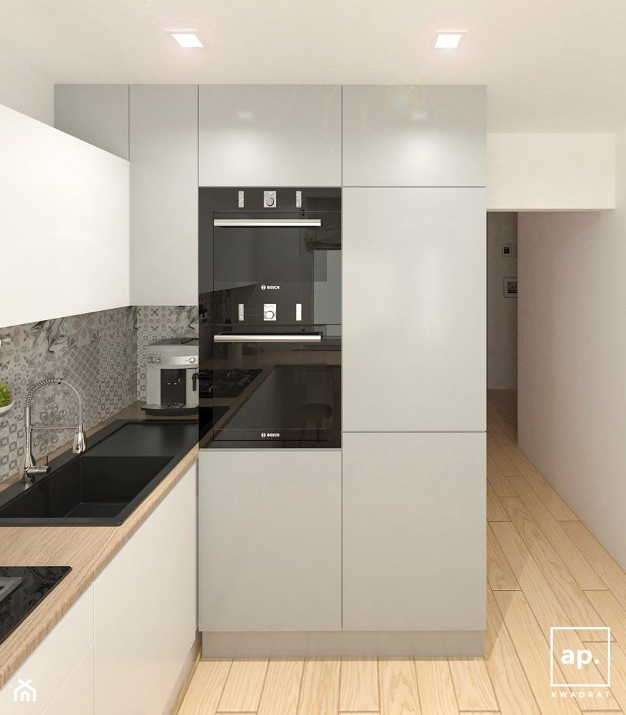 Mieszkanie Lodz Srednia Otwarta Zamknieta Biala Kuchnia W Ksztalcie Litery L Styl Sk In 2020 Kitchen Furniture Design Kitchen Design Decor Modern Kitchen Renovation