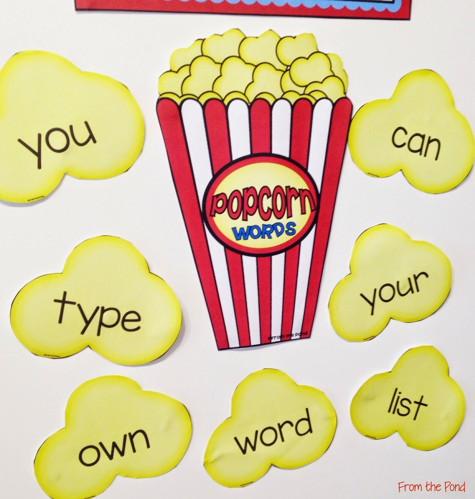 Popcorn Words for Sight words | New Teachers | Pinterest | Words ...