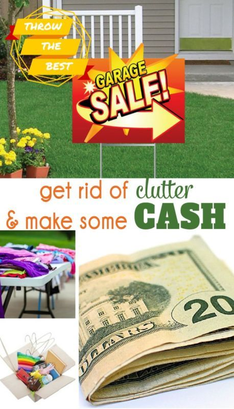 How to throw a garage sale make some cash clutter for Best way to get rid of clutter