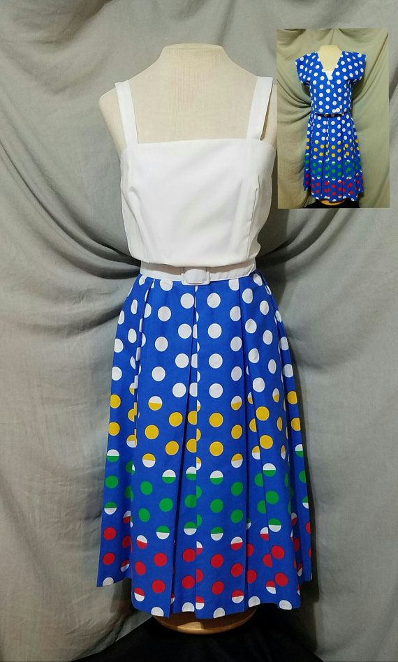 Check out this item in my Etsy shop https://www.etsy.com/listing/476374181/vintage-1970s-jenni-rainbow-polka-dot