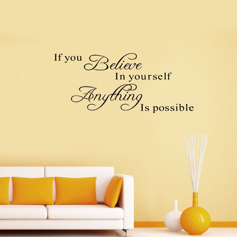 Believe Yourself Motivational Quote Wall Sticker | Products ...