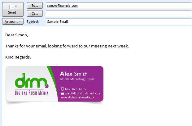 Email Signature Design  Mailings    Email Signatures