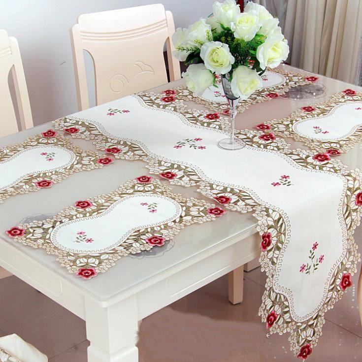 cheap mantel cubierta de tabla venta europa tejido venta caliente decoracin de la boda caminos