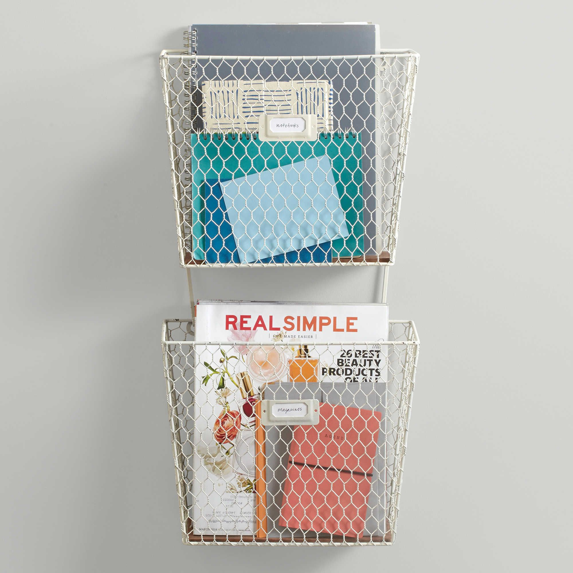 Real Simple® Wire Letter Tray | Mudroom | Pinterest | Wire letters ...