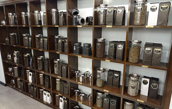 Unique coffee shop themes tea shop london 03 tea for Coffee shop display ideas