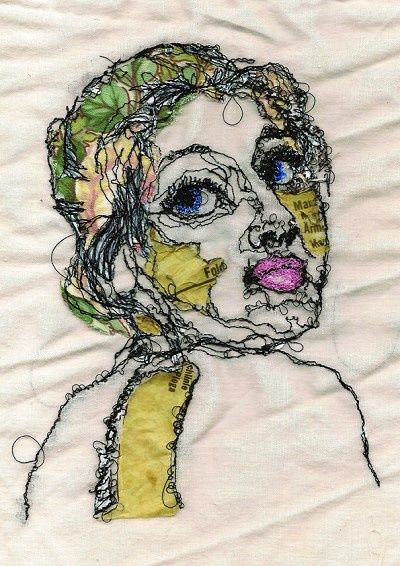 Pin By Fateme Asgari On Art Portrait Embroidery Sewing Art Embroidered Portrait