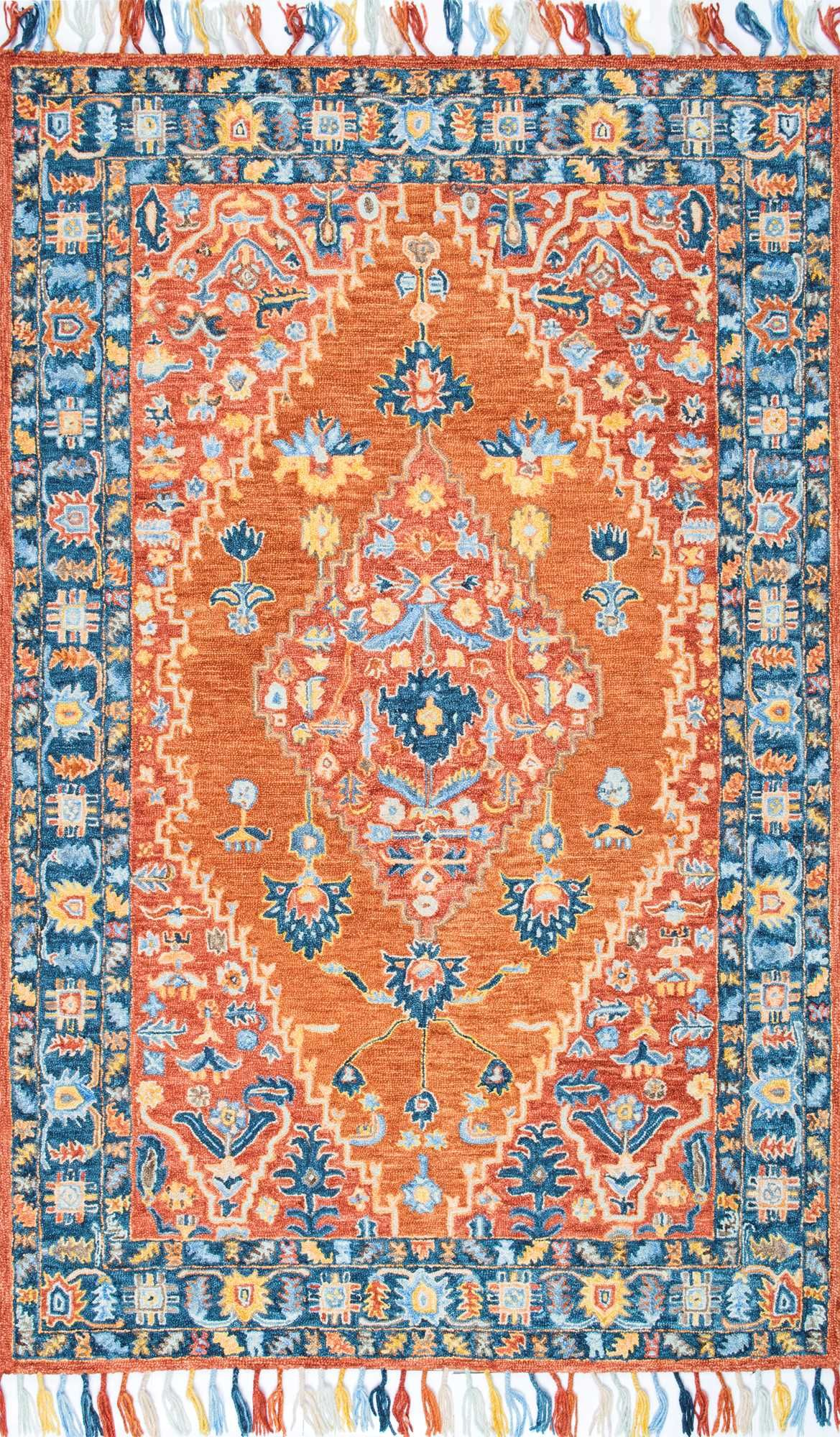 Pops Of Beautiful Color In This Rugs Usa Spellbound Wool