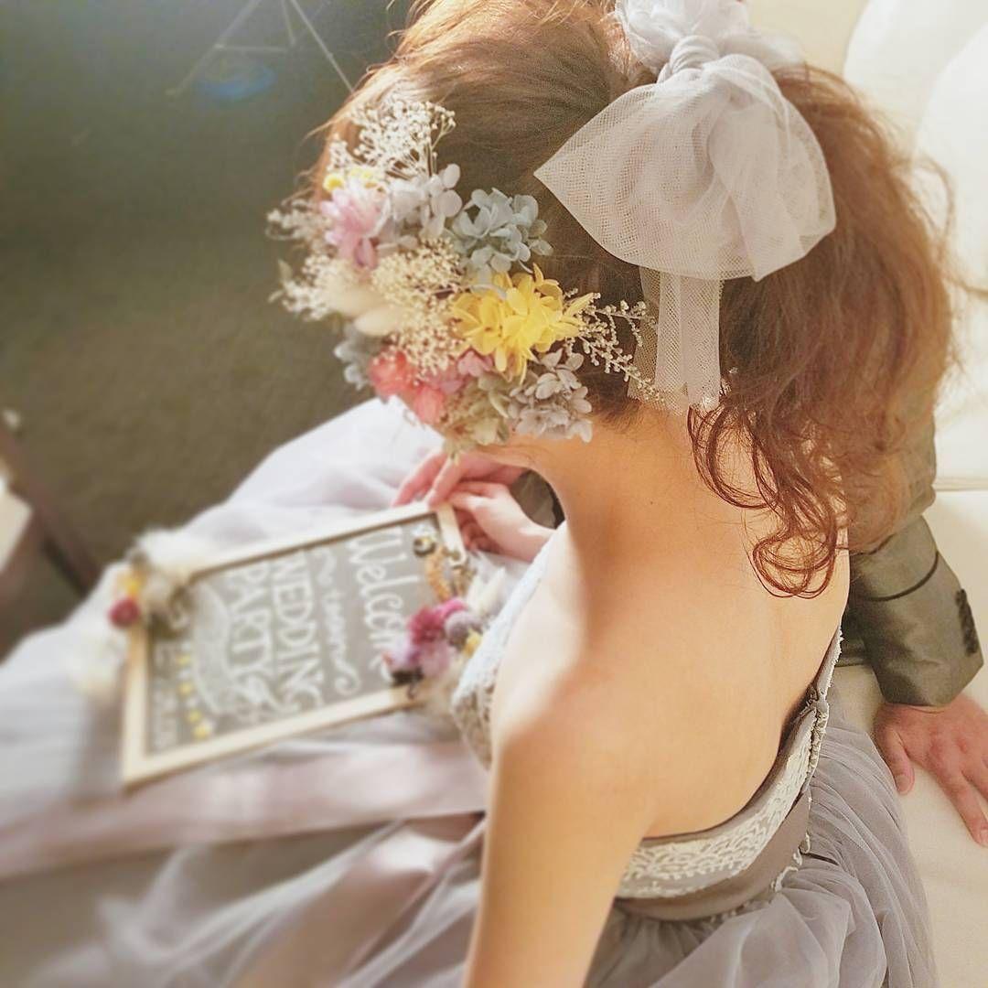 お洒落花嫁さんの間で流行中*ポニーテールに《チュールリボン