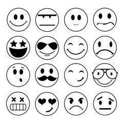 Vector emotional face icons | Moldes manualidades | Pinterest