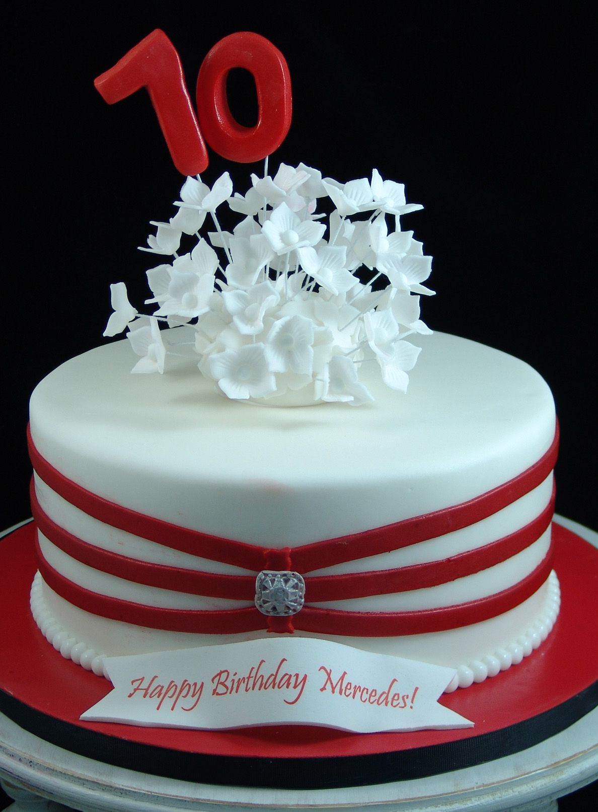 Amazing 70Th Red And White Birthday Cake With Images Red Birthday Funny Birthday Cards Online Alyptdamsfinfo