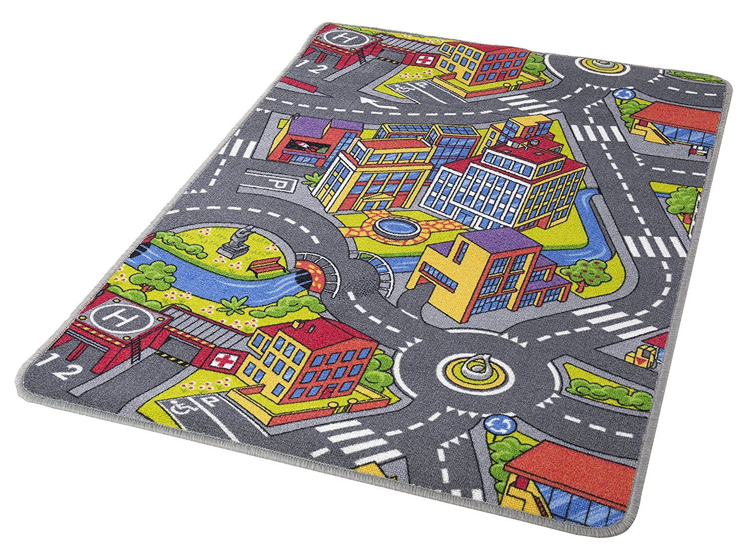 Autozimmer: Kinderteppich, Spielteppich, Straßenteppich ...