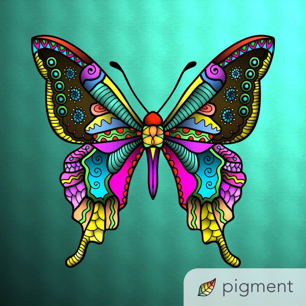 Beautiful butterfly, colored by @luz23_3 on Twitter Have you tried ...