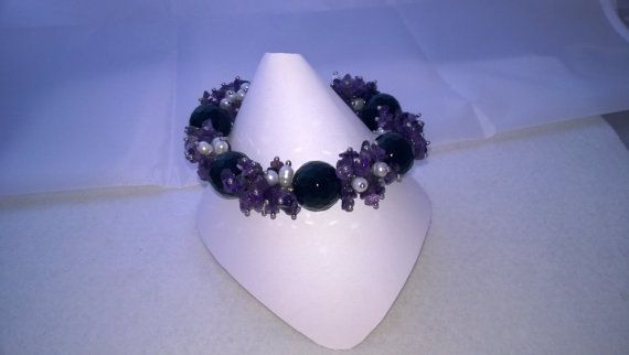 Handmade Stunning Heavy Amethyst and White by K8tieSparkles