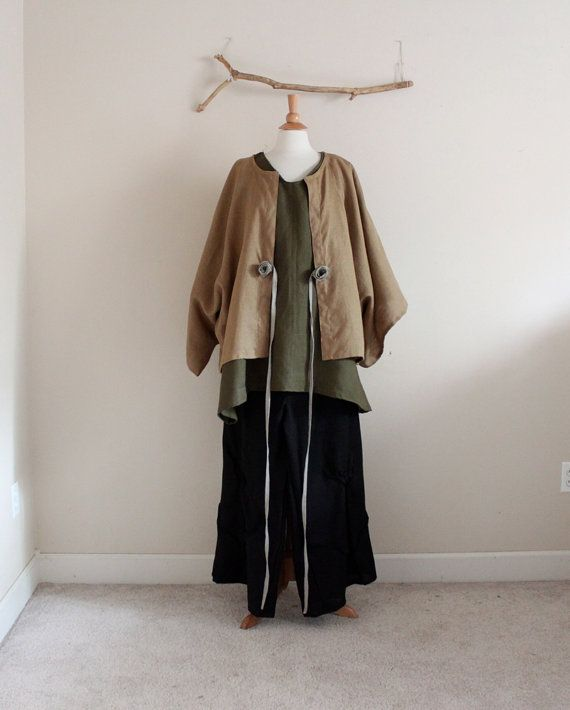 olive ginger corner linen outfit three by annyschooecoclothing
