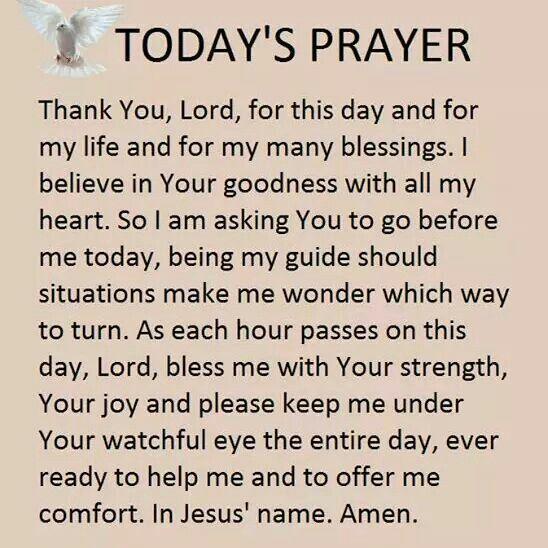 Today's Prayer