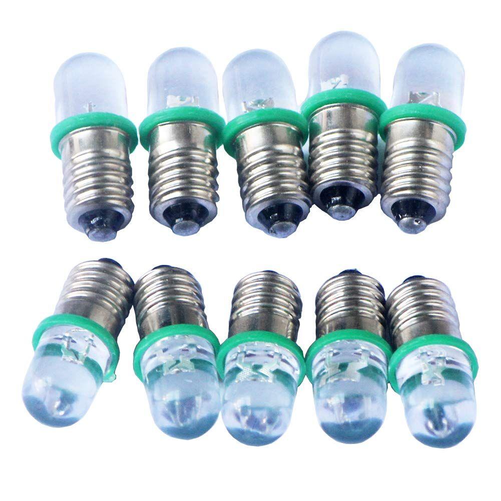 Gutreise 10pcs E10 Screw 3v 4 5v 6v 12v 24v Spot Led Bulb Light Lamps Warm White Yellow Blue Green Red Cold White 10pcs E10 Base In 2020 Light Bulb Led Bulb