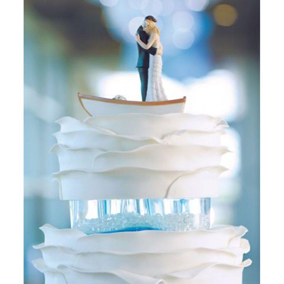 Wedding Cake Toppers Row Away Wedding Couple In Rowboat