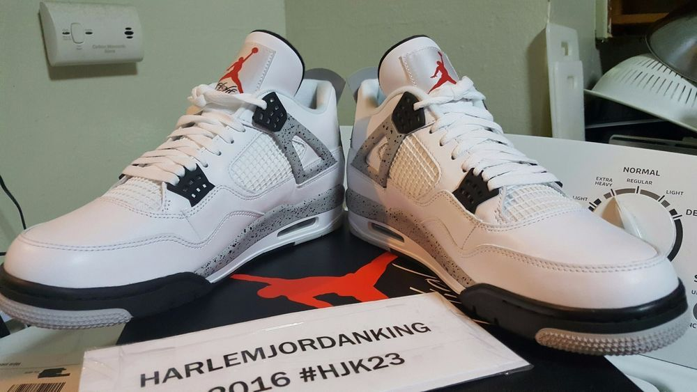 397bf3411a9 shop nike air jordan retro 4 white cement size 11 2016 release brand new  deadstock nike