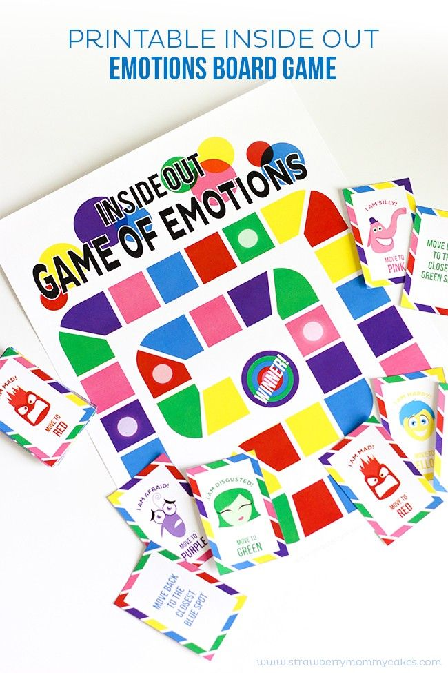 Printable Inside Out Emotions Board Game Fun Follow Up To The Movie