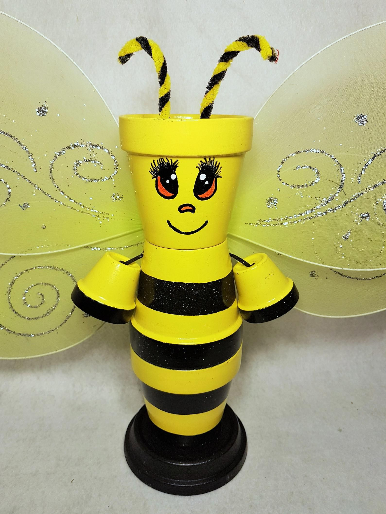 Bumble Bee Clay Pot People Garden Decoration Clay pots