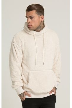 bdbc35b35ebf Illusive London - Borg Fleece Overhead Hoodie - Oatmeal