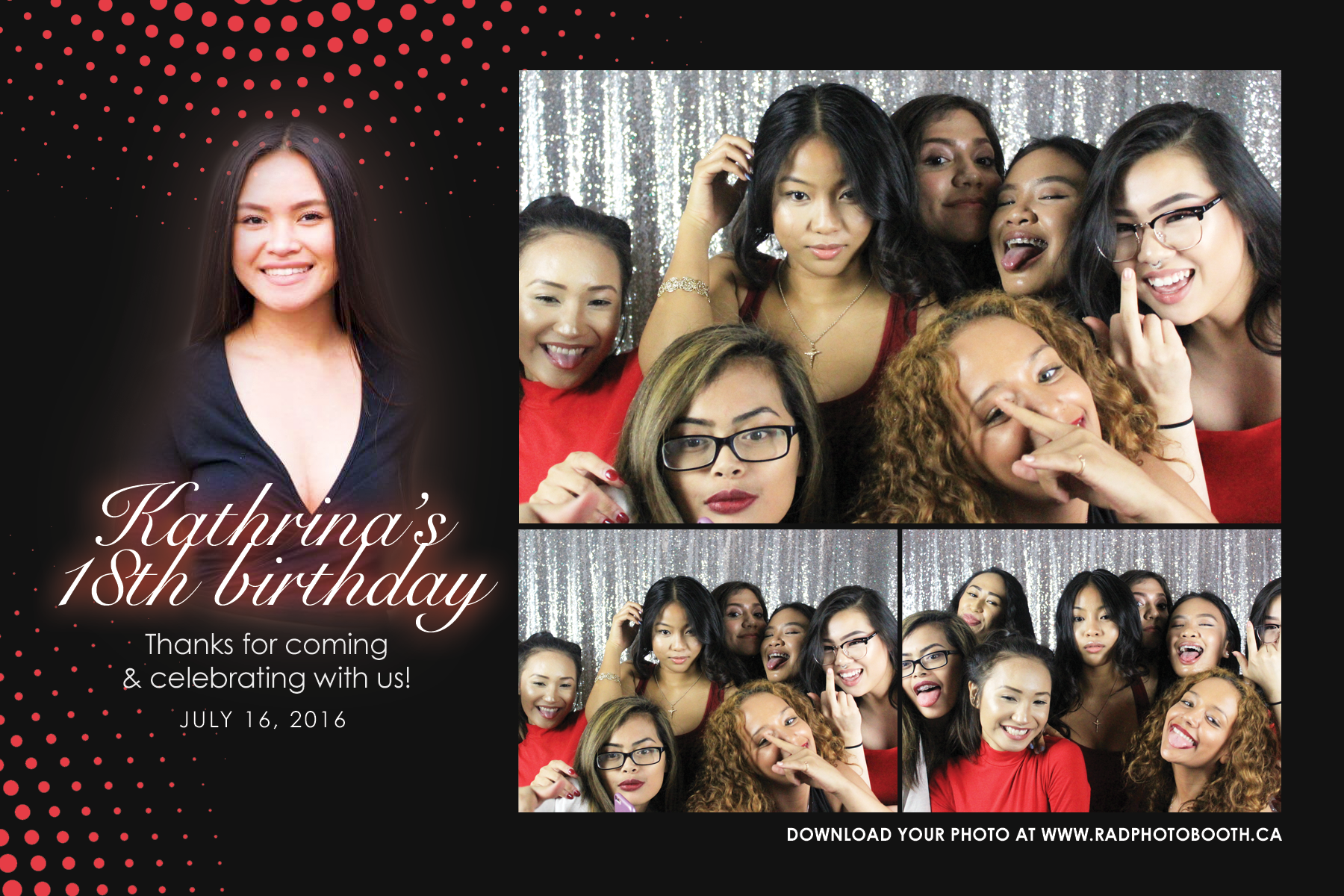 18th birthday debut photo booth