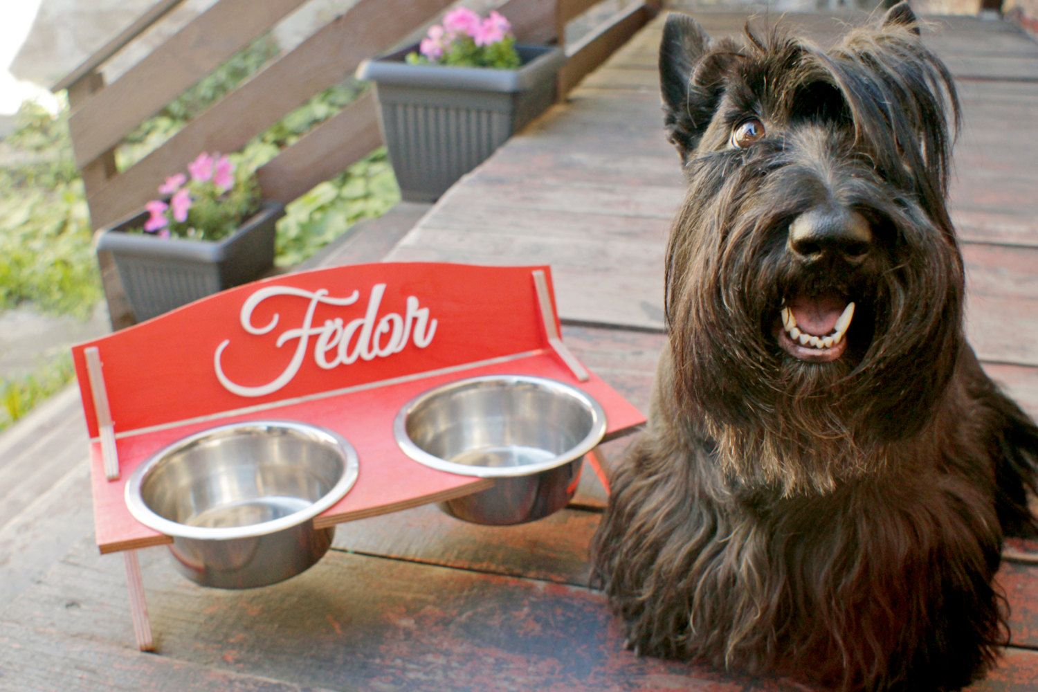 #Medium personalized #custom dog cat pet elevated feeding bowl stand #feeder hold,  View more on the LINK: 	http://www.zeppy.io/product/gb/3/253096039/