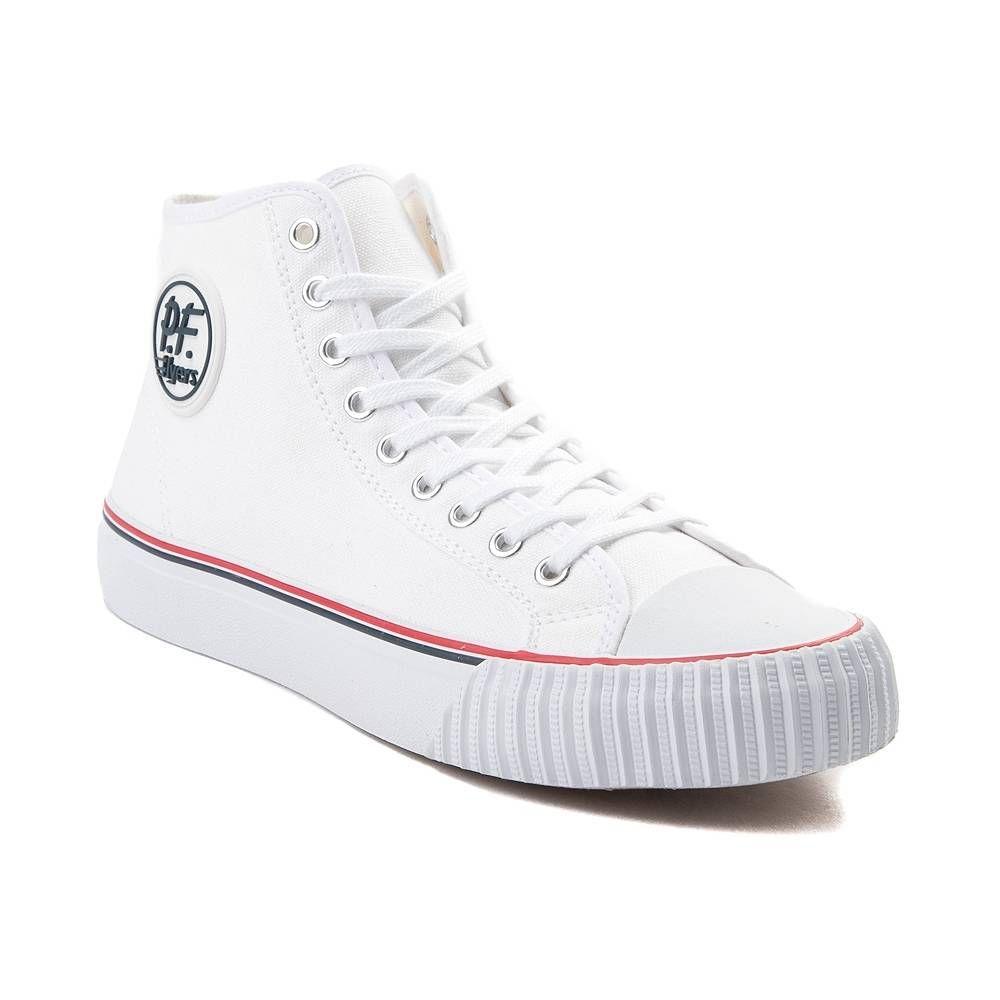 Mens PF Flyers Center Hi Athletic Shoe - White - 406137 4cd4e510a