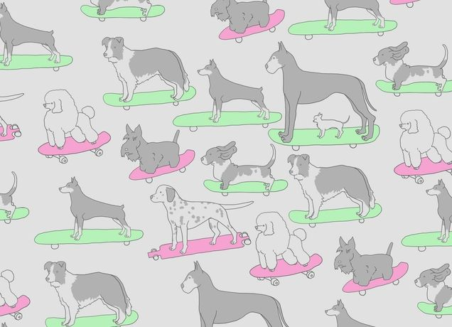 """""""Dogs on Skateboards"""" - Threadless.com - Best t-shirts in the world"""