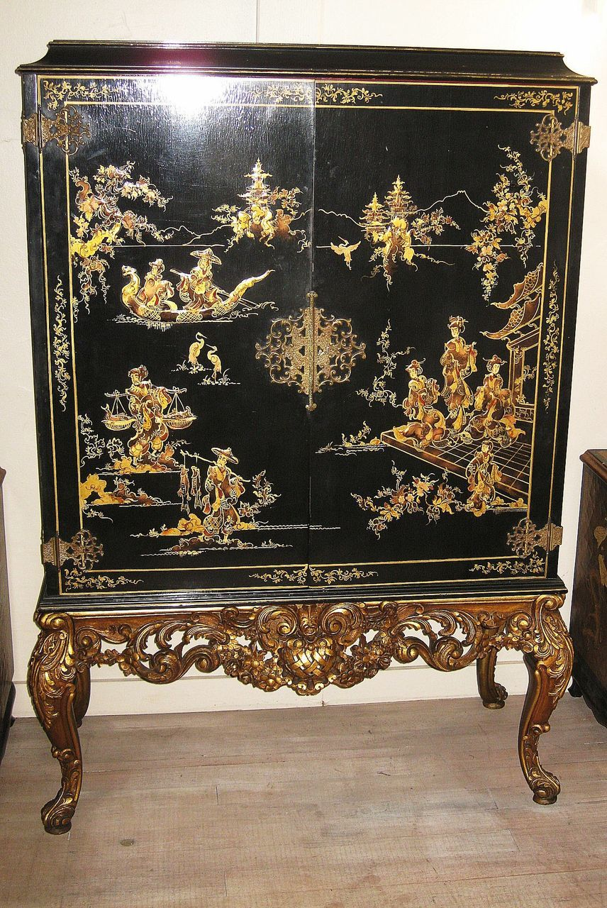 amazing black lacquer cabinets. Elegant Chinese Black Lacquer and Gilt Cabinet  Chinoiserie